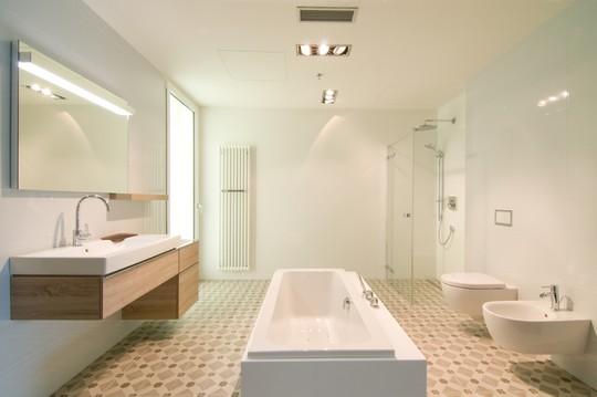 prostorna svetla koupelna