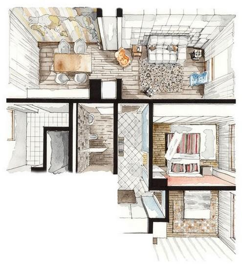 plan navrhovaneho interieru