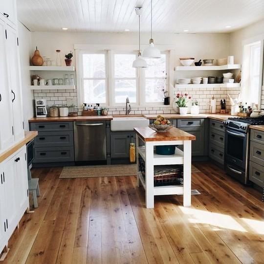 venkovsky styl kuchyne s ostruvkem