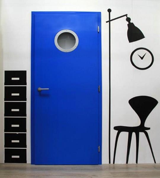modre interierove dvere CAG