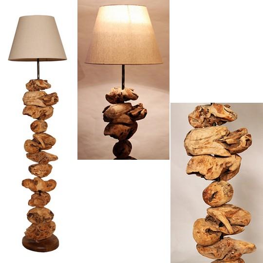 stojaci lampa ze dreva CHENA