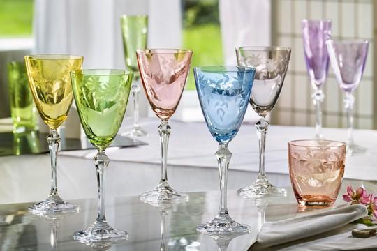 Barevne sklenice Crystalex z kolekce FLORAL