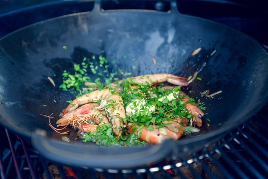 grilovani cerstvych krevet