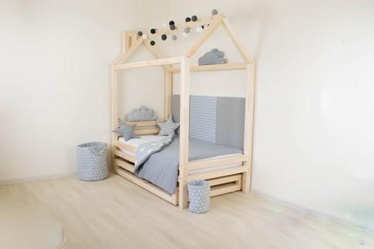 postel ve tvaru domecku