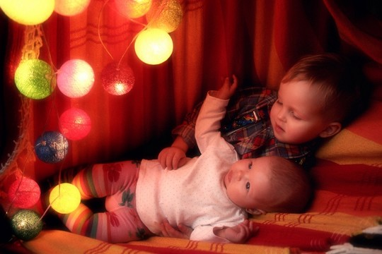 tlumene osvetleni pro usinani deti