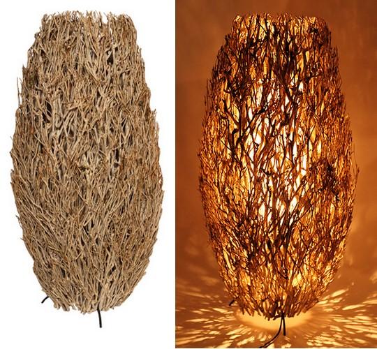 lampa z prirodniho materialu KASKAE