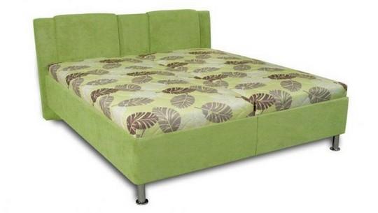 zelena calounene postel Sophia