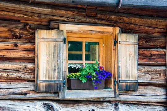 drevene okno