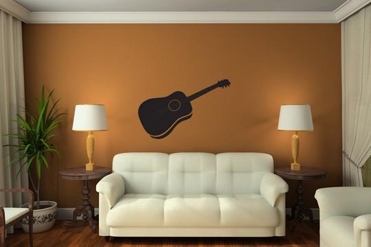 samolepici dekrace kytara