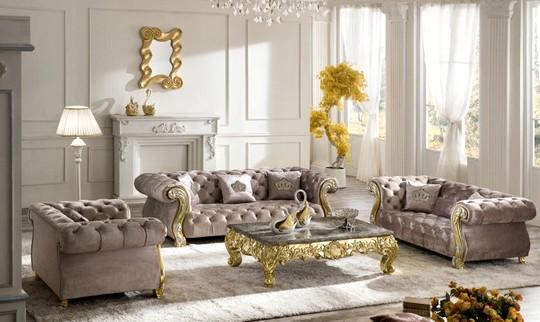 luxusni bezova sedacka