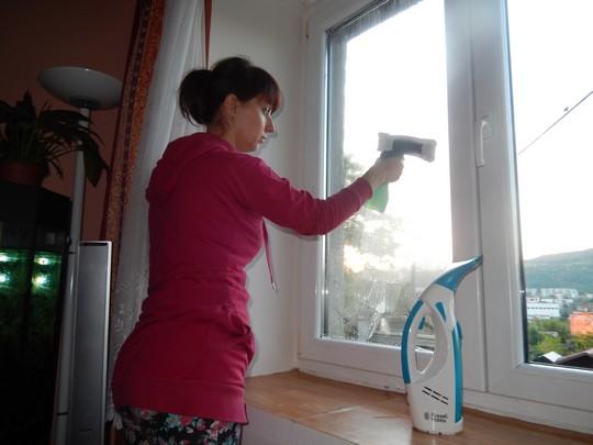myti okna - nanaseni prostredku