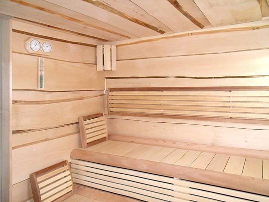 Sauna Avalon je vyrobena z lipoveho dreva