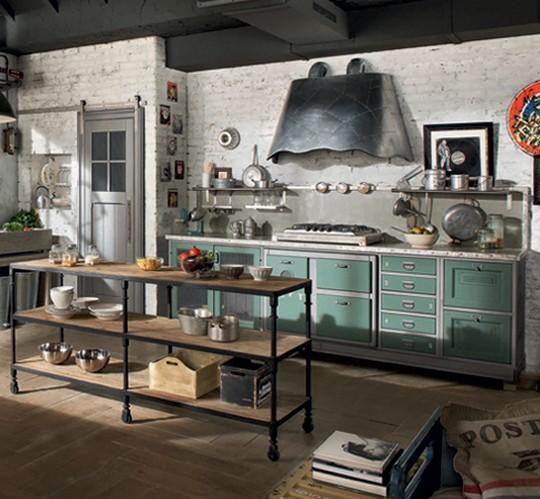 Kuchyně V Líbivém Stylu Vintage útulný Dům